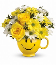 Be Happy Bouquet from Maplehurst Florist, local flower shop in Essex Junction